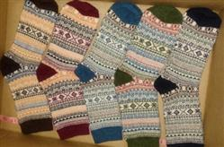 Kristin Fry verified customer review of Cozy Striped Socks - Fuzzy Winter Wool Socks Set