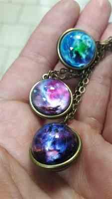 Boots N Bags Heaven Double Sided Galaxy Glass Pendant Jewelry Review