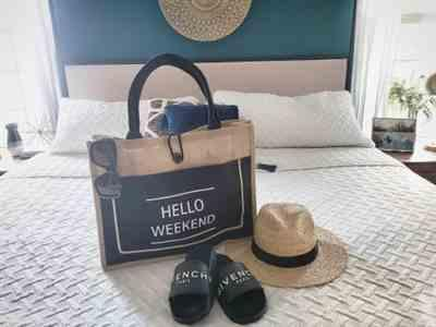 Boots N Bags Heaven Classic Hello Weekend Tote Beach Bag Review
