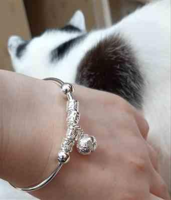 Boots N Bags Heaven Sterling Silver Floral Ball Charm Bangle Bracelet Review
