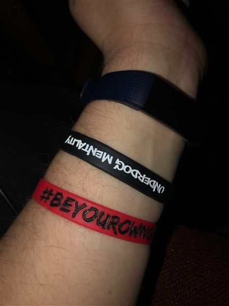 Jack Gunderson verified customer review of #BeYourOwnGoat Wristband - Red/Black