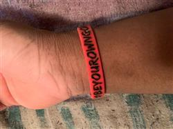 Matthew L. verified customer review of #BeYourOwnGoat Wristband - Red/Black