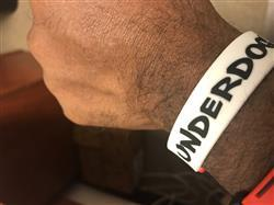 Eric J. verified customer review of DEUCE LEGACY WRISTBAND - UNDERDOG MENTALITY | WHITE/BLACK/RED