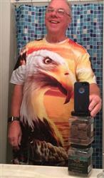 Michael T. verified customer review of USA Eagle Sunset T-Shirt