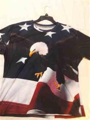 Galaxy Teez Flying Eagle USA Freedom T-Shirt Review