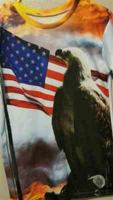 M***k verified customer review of 2019 USA Amazing Eagle T-Shirt