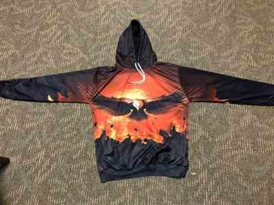 K***n verified customer review of Fire Eagle 3D Hoodie