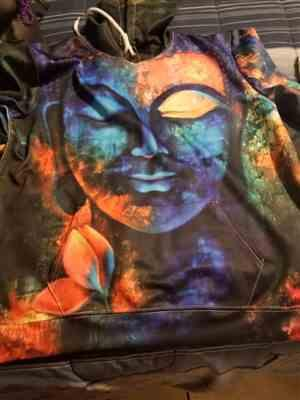 E****a verified customer review of Blue Buddha Paint 3D Hoodie