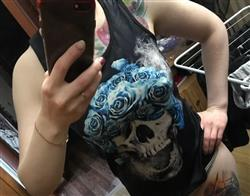 Holly Scarfe verified customer review of Skull & Blue Roses Women Tank Top