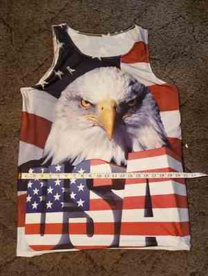 R*n verified customer review of Big USA Eagle 3D Tank Top