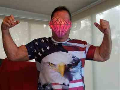 R***k verified customer review of Summer USA Eagle 3D T-Shirt
