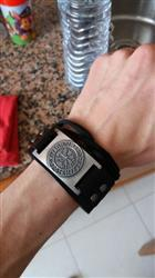 Kay Davis verified customer review of Leather Viking Vegvisir Bracelet