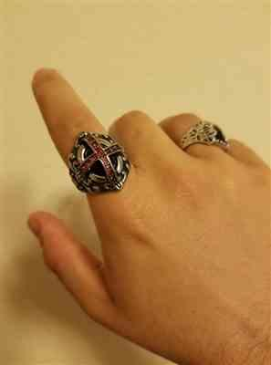 Tawer Younan verified customer review of Knights Templar Red Stone Ring
