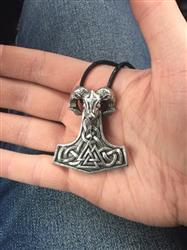 Karen Grant verified customer review of Mjolnir Goat Necklace