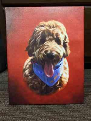 Anamaria Barrasso verified customer review of Custom Pet Portrait