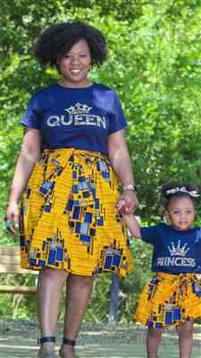 Tremaine jackson  verified customer review of Ohema Women's Queen African Print Graphic T-Shirt (Navy)