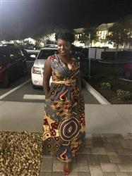 Brianne O. verified customer review of Ayanna African Print Shawl Collar Maxi Dress (Yellow Blue Multipattern)