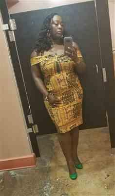 Nabila verified customer review of Waseme Women's African Print Knee-length Off-the-shoulder Dress (Green Tortoise Back)