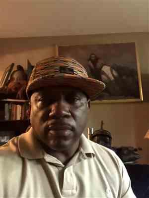 Major J. verified customer review of Beno African Print Fitted Hat (Gold Green Kente) - Clearance