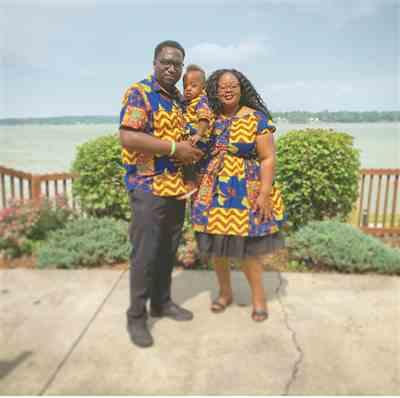 Tiwi C. verified customer review of Keyon Button-Up African Print Shirt (Blue Yellow Multistripe) - Clearance
