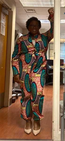 D'IYANU Eniola African Print Button-Up Jumpsuit (Orange Teal Ovals) Review