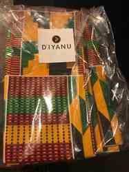 Lesuel B. verified customer review of African Print Head Wrap/Scarf (Yellow Green Kente)