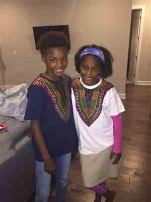 David Lester verified customer review of Kid's African Print Dashiki T-Shirt (Navy)