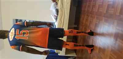 Juan N. verified customer review of Orange/Black Player Id Custom Over The Calf Number Socks (Pair)