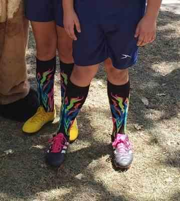 Susana G. verified customer review of Flame Over the Calf Athletic Socks (multiple colors)