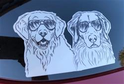 Amanda W. verified customer review of Marley the Golden Retriever - Decal Sticker