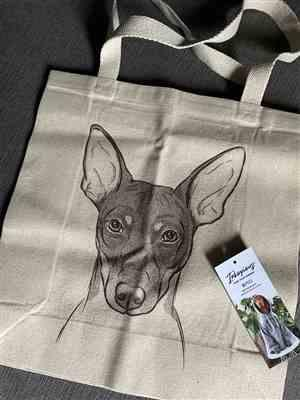 Josephine Casasanta verified customer review of Knox the Rat Terrier - Tote Bag