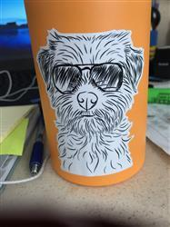 Kate D. verified customer review of Benjamin the Border Terrier - Decal Sticker