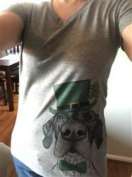 Allison S. verified customer review of Booze the German Shorthaired Pointer  - St. Patricks Collection