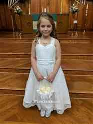 Tiffany F. verified customer review of Backless Ivory Lace Wedding Flower Girl Dress