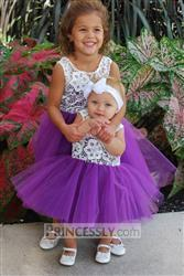 Misdress Ivory Lace Peach / Red / Silver / Purple Tulle Flower Girl Dress Review