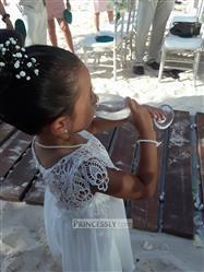 Misdress Boho Beach Lace Cap Sleeves Ivory Chiffon Flower Girl Dress Review