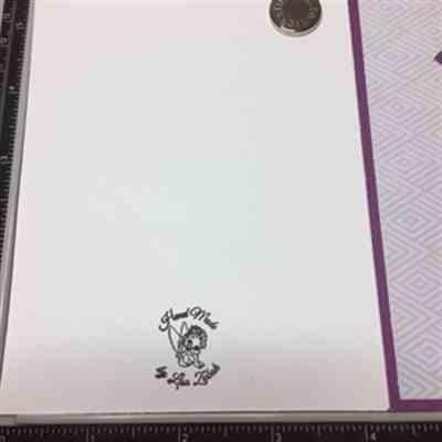 Lisa Z. verified customer review of 1 by 1 Custom Clear Stamp