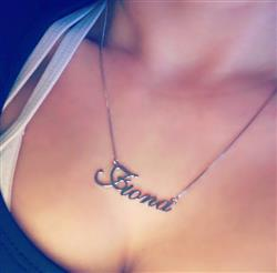 Fiona M. verified customer review of Calligraphy Style Name Necklace