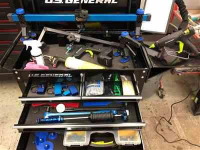 Tim Edsall verified customer review of Keco Level 2 Glue Pull Collision Manager Kit with Portable Shop Light and Bag
