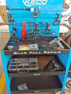 Wolves Raine verified customer review of Keco Level 2 Glue Pull Collision Manager Kit with Portable Shop Light and Bag