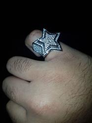 Rizwan  M. verified customer review of ICED Star Ring in White Gold
