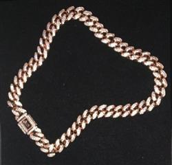 adam b. verified customer review of 12mm ICED Cuban Chain in Rose Gold
