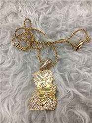 LFYSHOP ICED Bart Simpson Pendant in Gold Review