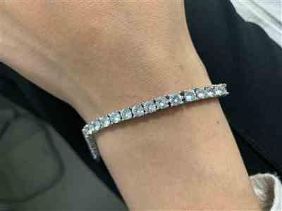 LFYSHOP 4mm ICED Tennis Bracelet in White Gold Review
