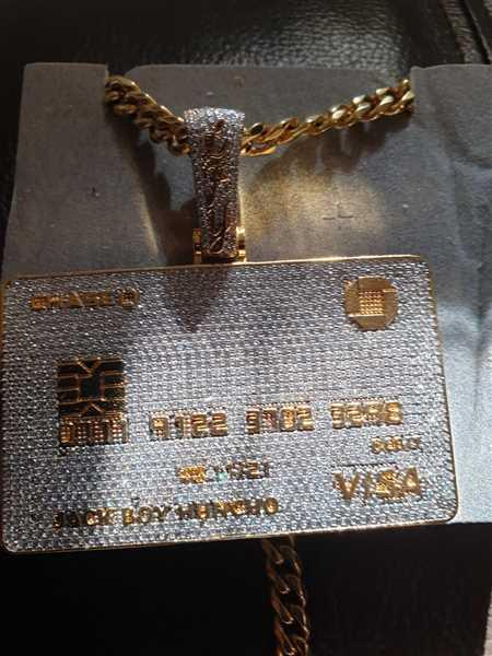 LFYSHOP ICED Bank Card Pendant in Gold Review
