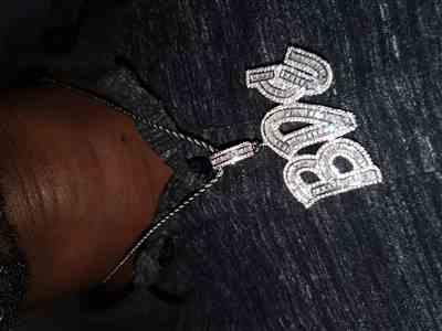 Ddqpcompany verified customer review of ICED Custom Baguette Letter Pendant 1