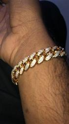 Ashmal  K. verified customer review of 12mm LFY ICED Cuban Bracelet in Gold