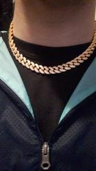 Hunter C. verified customer review of 12mm ICED Cuban Chain in Gold