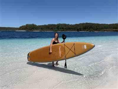 Elise verified customer review of 11'6 Original Series - 'Wood-Look' Inflatable SUP Board