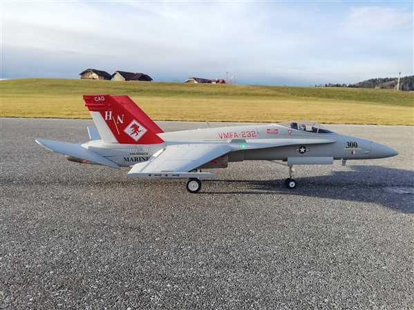 Christoph verified customer review of Freewing F/A-18C Hornet Base Gray 90mm EDF Jet - PNP